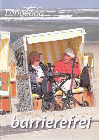 Broschüre mit Informationen zum barrierefreien Urlaub auf Langeoog