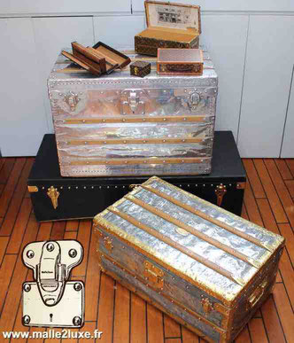 Louis Vuitton antique trunk - Malle2luxe.fr