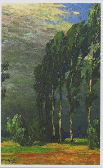 Pappeln im Sturm  - 1920