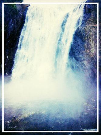 Québec Kanada Saint Anne Wasserfall