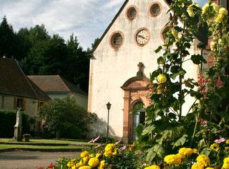 """Eglise de verriers - """"La Rose de Cristal"""" lettenbach saint-quirin verrerie"""