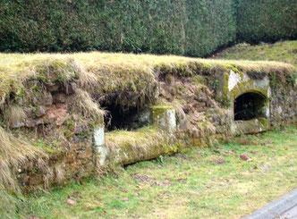 Les soupiraux, seuls vestiges des caves qui se trouvaient sous la grande Halle lettenbach saint-quirin