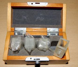 4 Glasküvetten Optik Jena für die Spektroskopie/ Chemie