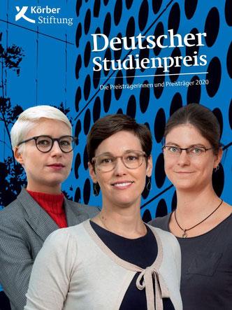 Die drei Erstpreisträgerinnen Lucia Sommerer, Andrea Binder und Johanna Kirchhoff (v.l.)