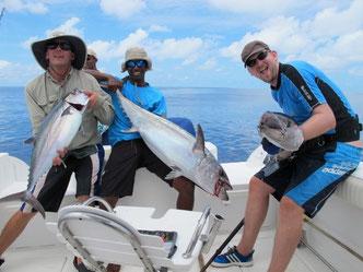 Seychellen angeln jiggen Hundezahntun
