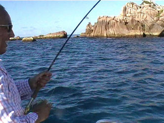 Seychelles fishing fly fishing fight