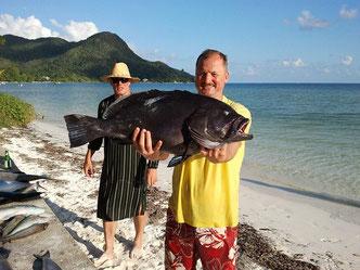 Seychellen angeln Grundangeln Grouper
