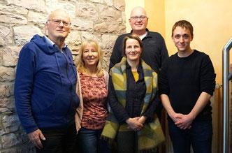 v.l.n.r. Prof. Dr. Gerhard Rohr, Claudia Mudra, Christina Kunze, Arnd Koch, Christian Kaiser. Foto: Nolten-Casado