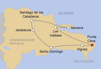 Kurz-Rundreise Dominikanischer Republik ab Puerto Plata, Punta Cana, Santo Domingo