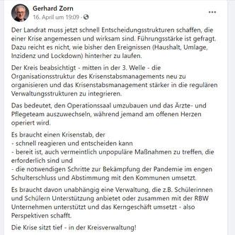 SPD: FB-Statement vom Fr. 16.04.2021