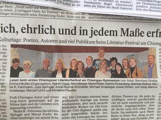 ...und schon wieder mit geschlossenen Augen in der Zeitung...
