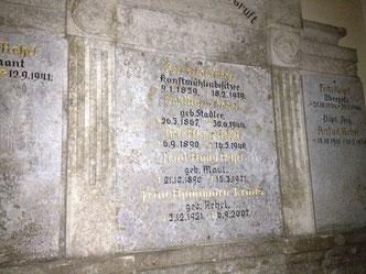 Das Familiengrab der Rehrls in Fridolfing