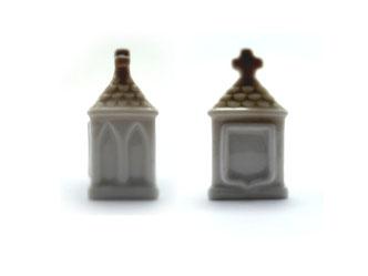 Dedal de porcelana, ermita marrón.