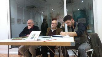 D'aquerra a dreta: Ramon Besora, Joaquim Carbó i Pedro Rodríguez