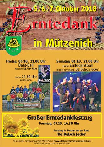 Erntedankfest in Monschau Mützenich Eifel