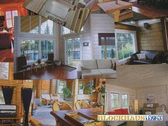 Blockhaus - Innenansichten - Was kostet ein bezugsfertiges Holzhaus  in massiver Blockbauweise  inklusive Standard Haustechnik und Baunebenkosten ohne Grundstück und  Erschließungskosten - Realistische Baukosten  in Deutschland - Baupreise - Hauskauf
