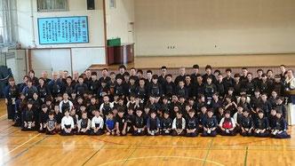 札幌西区合同稽古の集合写真