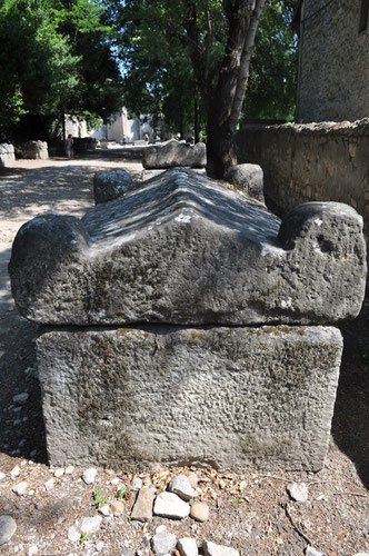 The Alyscamps in Arles, a famous necropolis