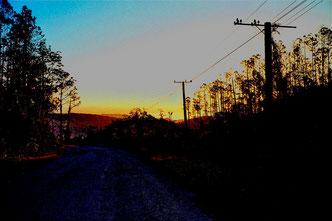 Morgendämmerung in den Bergen