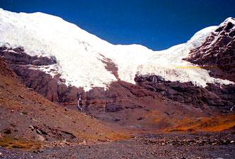 Gletscherzunge am Karo-la Pass