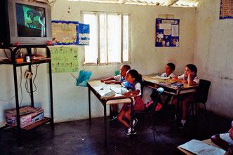Tele-Unterricht in einer Zwergschule