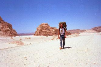 Ben legte die 80 km zum Mt. Sinai zu Fuss zurück