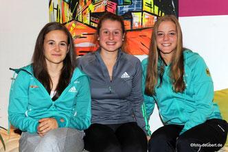v. l. Marina Sauter, Christin Maier und Lena Rießle