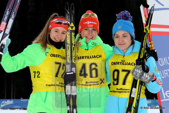 Sophia Schneider - Theresa Straßberger - Elizaveta Kaplina - IBU Junior Cup Obertilliach