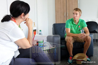 Ilka Schweikl im Gespräch mit David Zobel