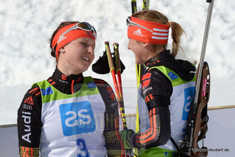 Christin Maier und Theresa Straßberger - Pokljuka 2016