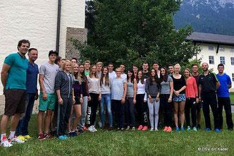 Magdalena Neuner zu Besuch in Mittenwald