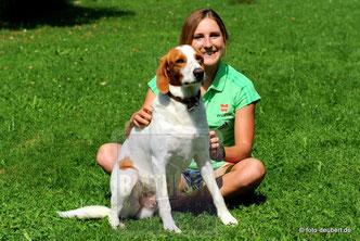 Theresa und ihr Hund Vince