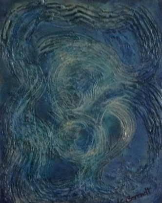 Whirlpool - Encaustic Wax Painting - by Anne Berendt