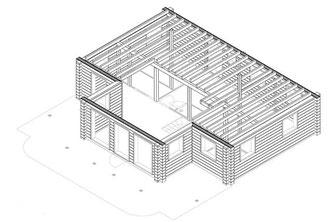 Wandzeichnungen - Blockhausplanung - Hausplanung - CAD Zeichnung - Blockhaus - Holzhaus in Blockbauweise - Bauen - Hausbau
