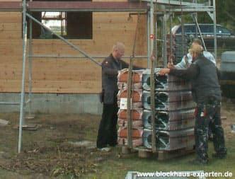 Blockhäuser planen und bauen - Hausbau - Dachdecker -  Holzhaus - Blockhaus - Wohnhaus