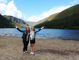 Glendalough mit meiner Mutter