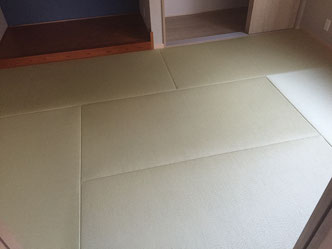 縁無畳 畳替え ダイケン和紙畳