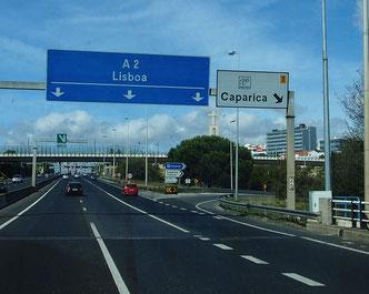 Einfahrt nach Lisboa