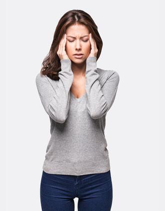 Schwitzen am Kopf durch Stress und Aufregung