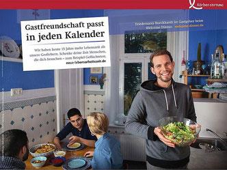 """Plakat zur Kampagne """"Neue Lebensarbeitszeit – Zeit für Engagement"""" (Foto: Isadora Tast)"""