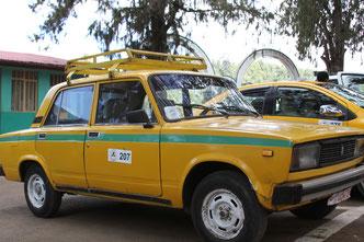 такси в Эфиопии это наши старые Жигули родом из СССР
