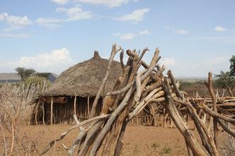дома в деревне племени Хамер