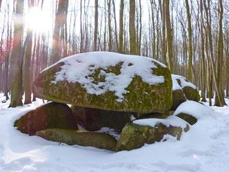 Das Großsteingrab an der Waldhalle nahe Sassnitz