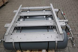 Träger für Druckluftbehälter in Schienenfahrzeugen, Edelstahl