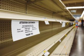 Panische Hamsterkäufe zu Anfang einer Pandemie