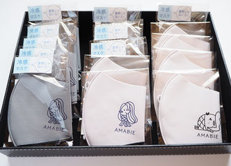 天満屋の展示、マスク販売、アマビエイラストデザイン