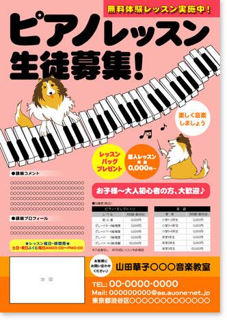 チラシ『シェルティピアノ1』型番CP11