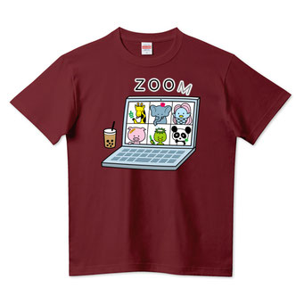 Tシャツデザインzoom動物園イラストアマビエキリンブタカッパパンダゾウパソコン