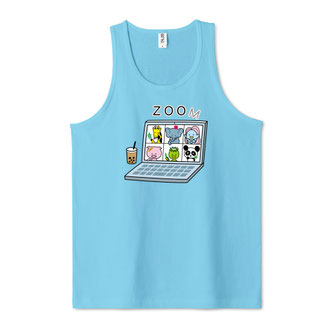 zoom飲み会タンクトップzoom会議面白い動物園かわいい