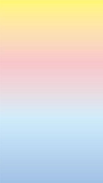 無料スマホ待ち受け画面ホーム画面におすすめかわいいピンク水色黄色グラデーション